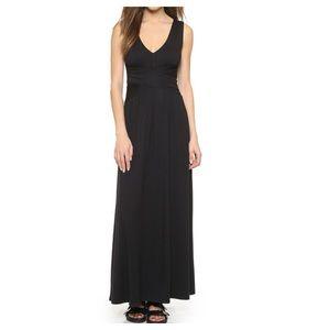 Lauren Ralph Lauren Maxi Dress Black 10 Stretch